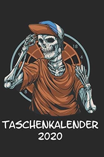 Taschenkalender 2020: Taschenkalender für Sept. 2019 bis Dezember 2020 A5 Terminplaner Wochenplaner Terminkalender Wochenkalender Organizer mit Darts Dartpfeile Dartscheibe Totenkopf