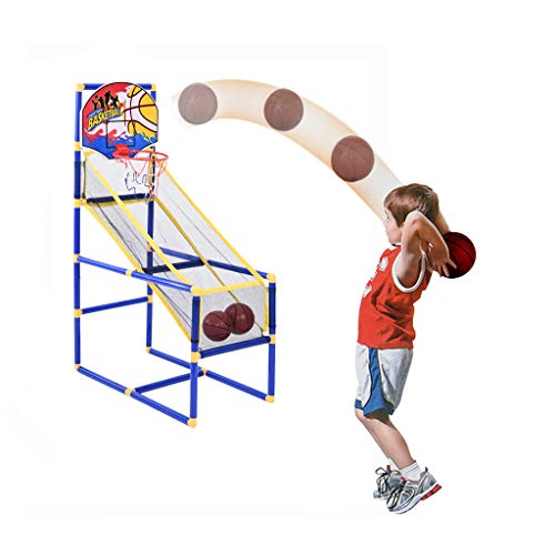 Lowest Prices! AHUIGOYCE Basketball Circle Arcade Game Sport Game Official Home Toddler Toys Outdoor/Indoor Basketball Boy Gift with 2 Basketball (40x80x120cm/15.74×31.5×47.63in)