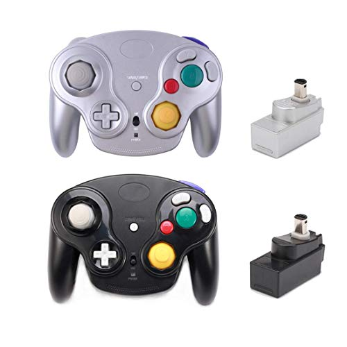 Poulep Classic 2.4G Wireless Controller Gamepad with Receiver Adapter, Compatible with for Wii...
