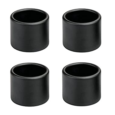 InterDesign Forma Napkin Rings for Home, Kitchen, Dining Room-Pack of 4 Set/4, Matte Black 4 Piece