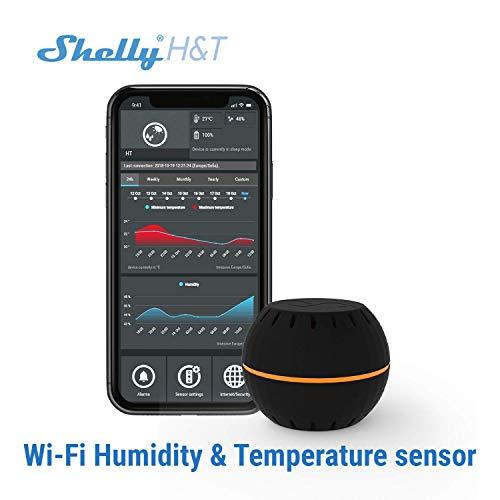 Shelly H&T Temperatur und Feuchte Sensor (Schwarz)
