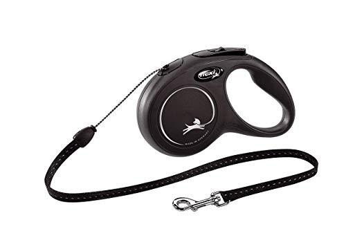 flexi New Classic S Gurt 5 m schwarz für Hunde bis 15 kg