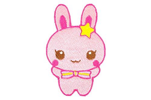 パルフィーユ/動物 刺繍 アイロン ワッペン (大/1枚) ウサギ