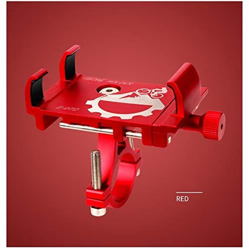 Yucong Soporte Móvil Bicicleta Teléfono, Aluminio Bike Motocicleta Soporte de Teléfono Ajustable - para 4.7-6.8 Inch Teléfono Móvil Inteligente Soporte de Montaje (Red)