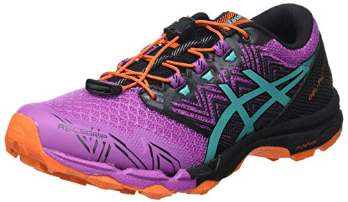 Asics Gel-Fujitrabuco Sky, Trail Running Shoe Mujer, Digital Grape/Baltic Jewel, 39.5 EU
