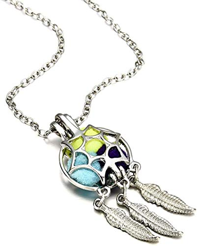 PPQKKYD Necklace New Modern Exquisite Lady Lady Dream Catcher Pearl cage Floating Small Box Pendant Chain Necklace Hollow Jew