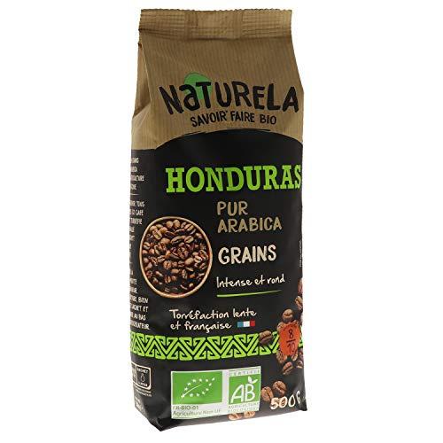 Naturela Café Grains Bio Honduras Pur Arabica - 500 g