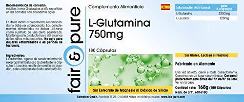 Fair & Pure L-Glutamin 700mg, 180 Kapseln - 4