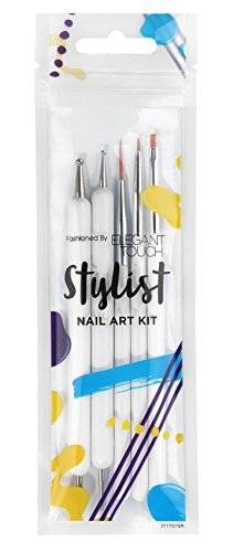 Elegant Touch Nail Stylist Complete Art Tool Kit Nail Art 5 Pièces