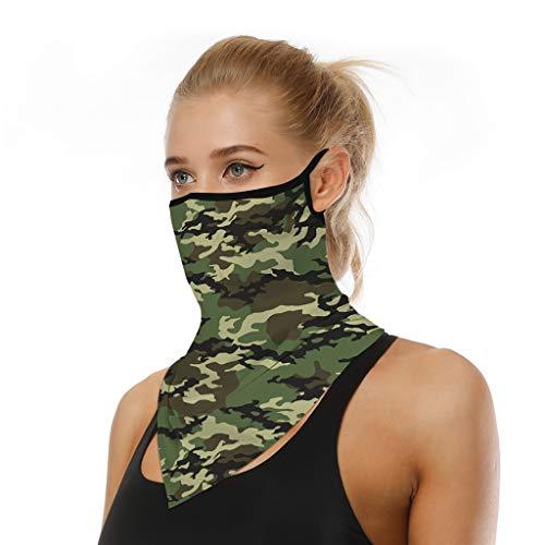 riou Face Shield Multifunktionstuch Motorrad Mundschutz Halstuch Bandana Schlauchschal für Damen Herren (X)