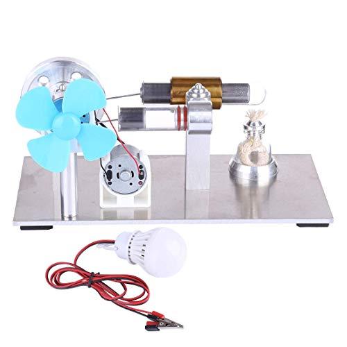 KFMJF Stirlingmotor Bausatz mit Ventilator und Lampe Sterling Motoren Stirling Engine Dampfmaschine Spielzeug für Kinder Erwachsene Technikinteressierte Bastler