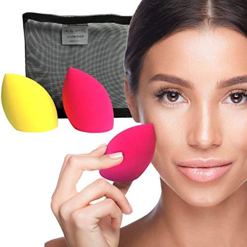 Spugnette Make Up Atlom 2020 2 Generazione Nuova Spugna Trucco Liquidi Crema Cipria Idea Morbida Beauty Case Regalo Nuove Beauty Blender