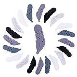 let's make 20 Stück Silikonfedern Lebensmittelqualität Kauen Stillzubehör DIY Halskette/Armband Baby Schnullerkette Schmuck Zähne Spielzeug Säuglingsgeschenke (Graue Serie)