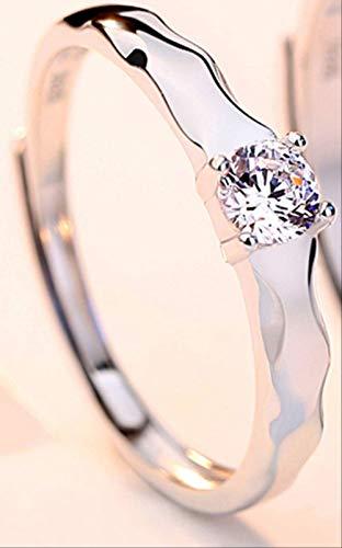 IWINO 100% echte 925 sterling zilveren ringen bruiloft bruids 3A zirkonium boor ring paar sieraden ring Valentijn cadeau gegraveerd
