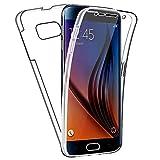 SDTEK Funda para Samsung Galaxy S6 Cuerpo Completo Protección Delantera Trasera Cubierta 360 Transparente Suave