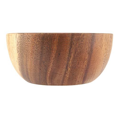 Nimoa houten kom, massief Acacia houten kom voor salade soep rijst hand gemaakte houten kom keuken gebruiksvoorwerpen