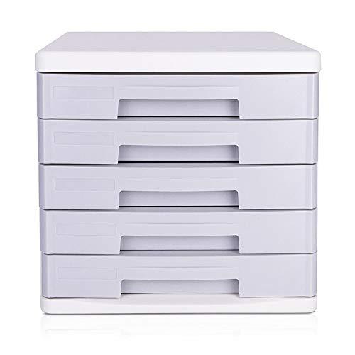 Supply Bureau-organizer met 5 schuifladen, voor briefpapier, A4-formaat, magazijne, boek, documenten, kantoor, opbergdoos