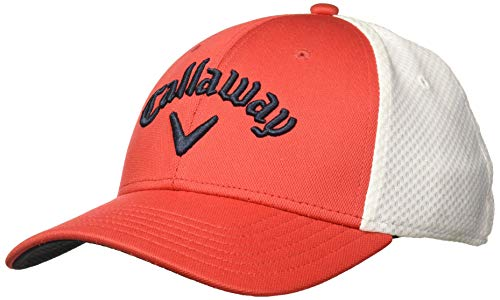 Callaway Golf Mesh Fitted Hat, Red/ White, Large/ X-Large
