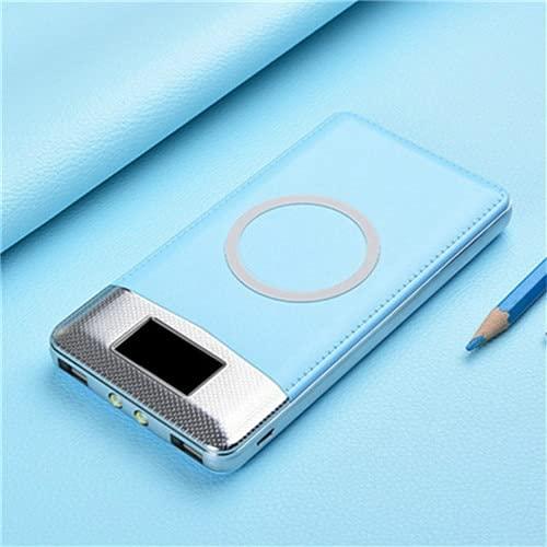XIECUI Banco de energíaBanco de energía magnético de 10000 mah para Banco de energía inalámbrico para batería de energía móvil Xiaomi Samsumg China Gris