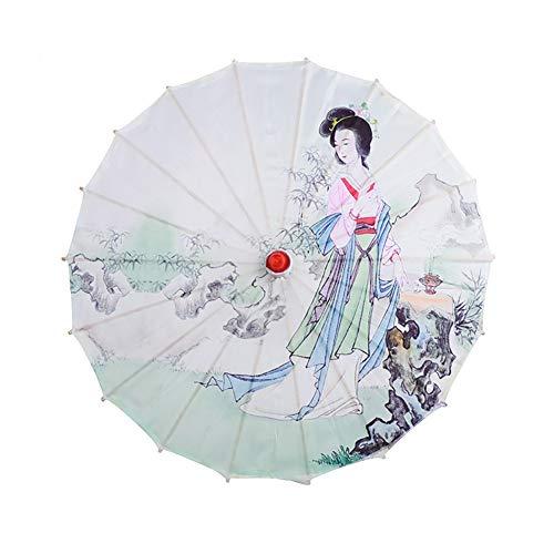 Blanchel Ombrello cinese in stoffa di seta stile classico Ombrello decorativo in carta dipinta a olio Ombrello artistico