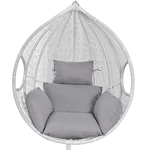 Cojín para silla colgante de balancín Swing individual cojines Tumbona acolchado cojín tumbona sofá jardín interior exterior salón patio terraza (gris)