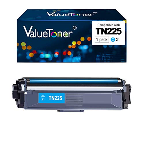 Price comparison product image Valuetoner TN 225 Compatible Toner Cartridge Replacement for Brother TN225 to use with HL-3140CW HL-3180CDW HL-3170CDW MFC-9330CDW HL-3150CDN Printer (Cyan,  1 Pack)