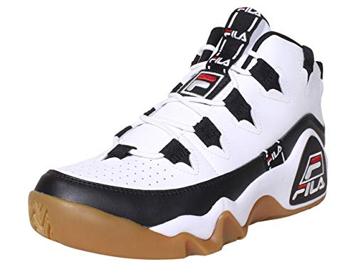 Fila Men's Grant Hill 1 Tarvos Basketball Sneakers White/Black/Red 12