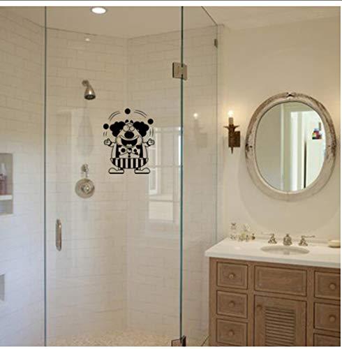 zxwd Wandgemälde 30x23,3 CM Lustige Clown Bad Abziehbilder Home Küche Dekorative Wandaufkleber