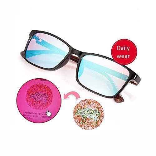 JCCOZ Rot-Grün Color Blind Brille Colorblind Führerschein Brillen Brillen, Color Blind Korrektionsbrillen Genießen Leuchtende Farben