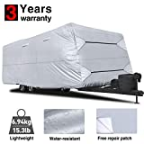 RVMasking Travel Trailer RV Cover 28'7'-31'6' L with Free Adhesive...
