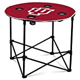 NCAA Logo Brands Indiana Hoosiers Round Tailgating Table, Team Color