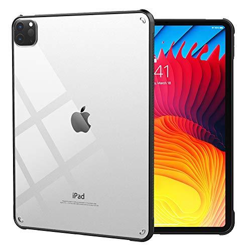 Dadanism Custodia Compatibile con iPad PRO 11 2021, Cover Protettiva Leggera Sottile Trasparente Case in TPU Morbida e PC Durevole, Nero