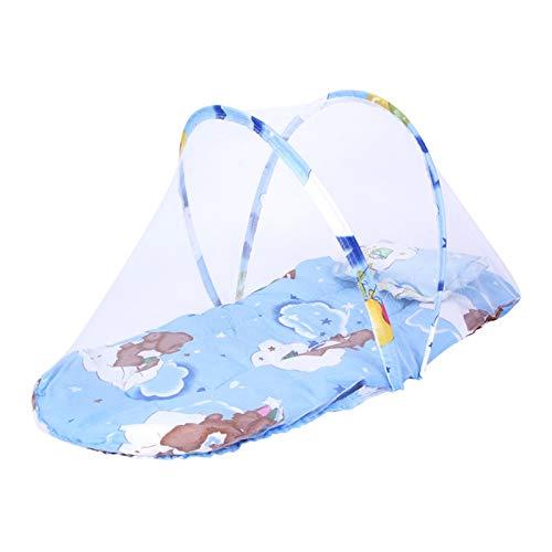 Cuna Nido Portátil, Cuna De Viaje con Colchon, Nido para bebé para recién Nacidos con diseño antivuelco,Blue