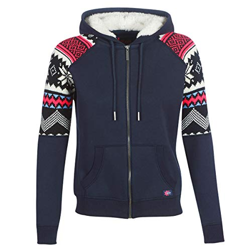 Superdry COURCHEVEL Zip Thru Hoody Sweatshirts und Fleecejacken Femmes Marine - DE 36 (UK 10) - Sweatshirts