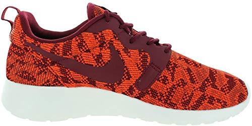 Nike Damen Roshe Run Strick Jacquard Niedrig Trainer - Total Orange Team Rot Segel 800, 37.5