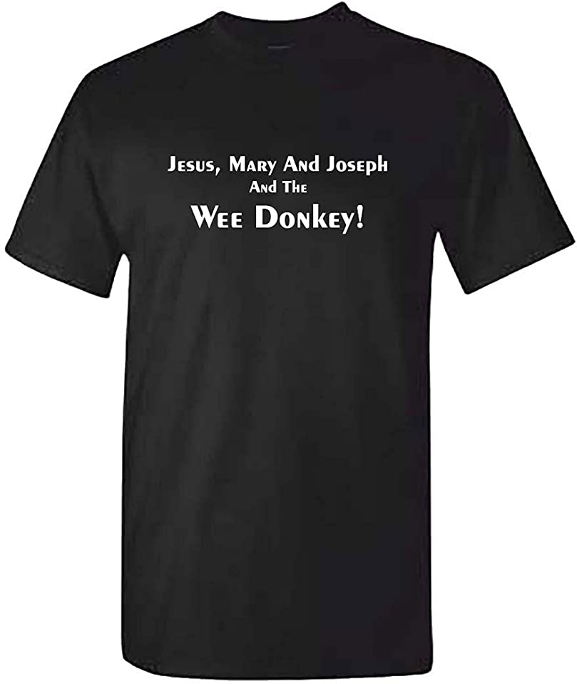 Jesus Mary and Joseph and The Wee Donkey Tshirt
