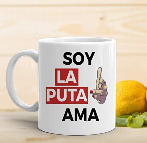 adaysusdetalles Soy la Puta ama,Amiga,Feminismo,Taza,8M,Mujeres,Taza Feminista,Amiga,igualda,Revolucion Frase
