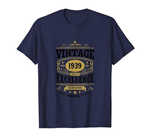 82° compleanno papà 82 anni regalo vintage per il nonno 1939 Maglietta