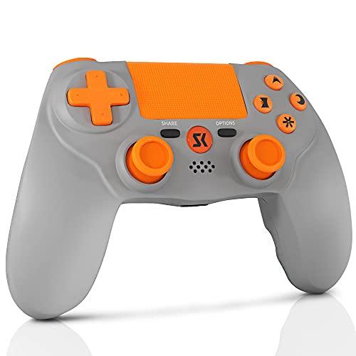 Lioeo PS4 Controller,Silicone Liquido Premium,Bluetooth Controller per Playstation 4 Pro Slim,PC Pannello tattile Joypad con Joystick per Giochi a Doppia Vibrazione TouchPad e 3.5mm Jack Audio