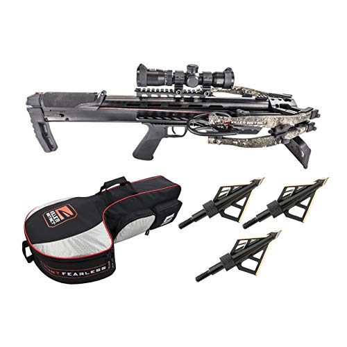 Killer Instinct SWAT XP 415 FPS Crossbow Elite Package with Case and Broadheads Bundle (3 Items)