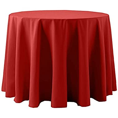 Ultimate Textile Cotton-feel 60-Inch Round Tablecloth Red