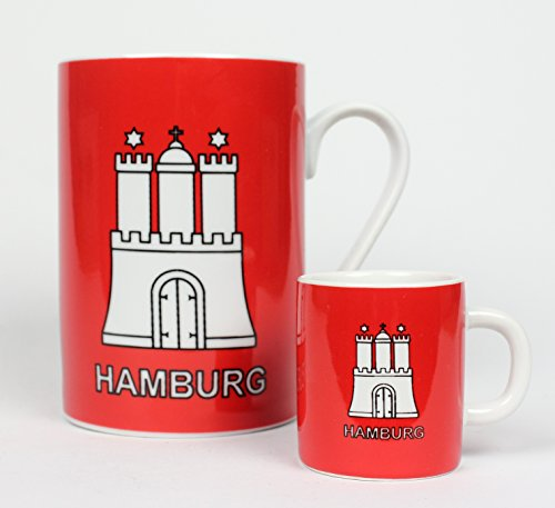 Hamburg Becher mit Hamburger Wappen + Mini Becher