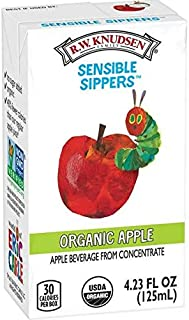 R.W. Knudsen Family Sensible Sippers Organic Apple Juice Box, 33.84 Fl Oz 8 count (Pack of 5)