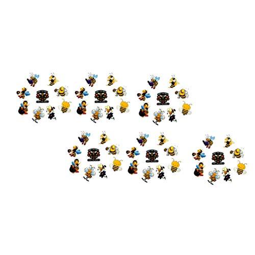 SOLUSTRE 100 Piezas de Pegatinas de Abeja Pegatinas de Abeja Pegatinas de PVC Pegatinas de Animales de Dibujos Animados Pegatinas de Abeja Estéticas Pegatinas de sobre Pegatinas de