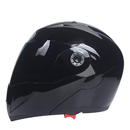 OLEEKA Doble visor Cascos de motocicleta Lentes dobles de casco de motocross de levantamiento modular para unisex
