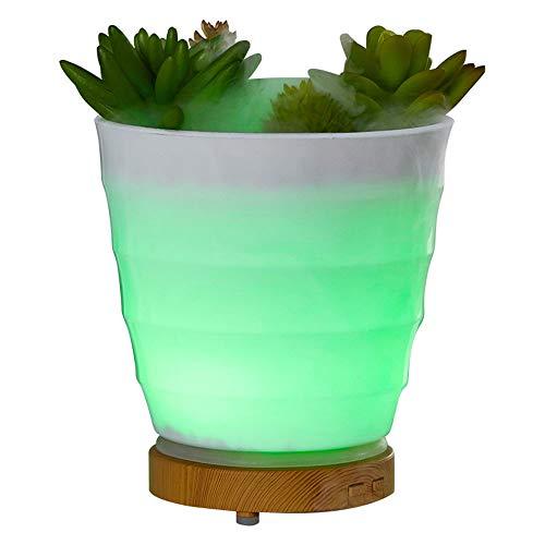 Ningz0l mini-luchtbevochtiger etherische olie diffuser 100 ml draagbare simulatie groene plant stootlicht verstuiver (dc24V)