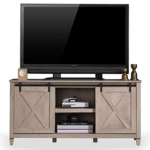 Our #3 Pick is the Sekey Home Sliding Barn Door TV Stand