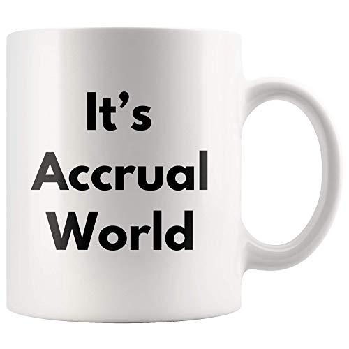 Boekenhouder geschenken Es ist Accrual World grappige boekenhouder beker keramische mok knevel werkbeker voor co-werkers Chefs CPA Auditor leraar 11 oz koffiekopjes