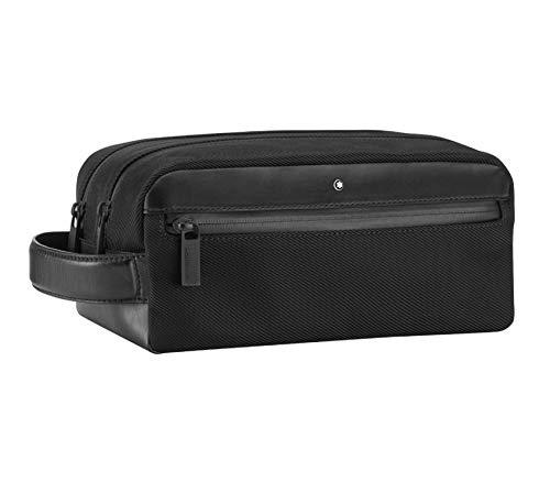 Montblanc NFL - Wash Bag con 2 zip, colore: Nero