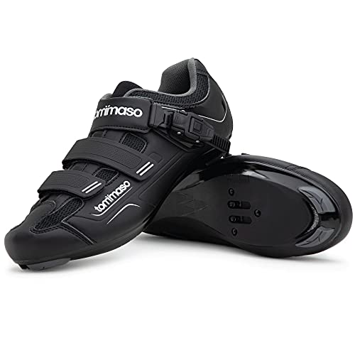 Tommaso Strada 100 Dual Cleat Compatible Road Bike, Touring, Indoor Cycling Shoe - 42 Black